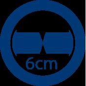 Junta de compensación de cruce cristales 6 cm
