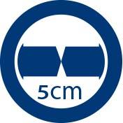 Junta de compensación de cruce cristales 5 cm