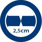 Junta de compensación de cruce cristales 2,5 cm